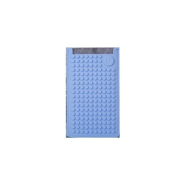 Univerzální malý obal na telefon PixelArt, grey/sky blue