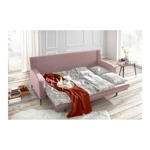 Canapea extensibilă Bobochic Paris Bergen, roz
