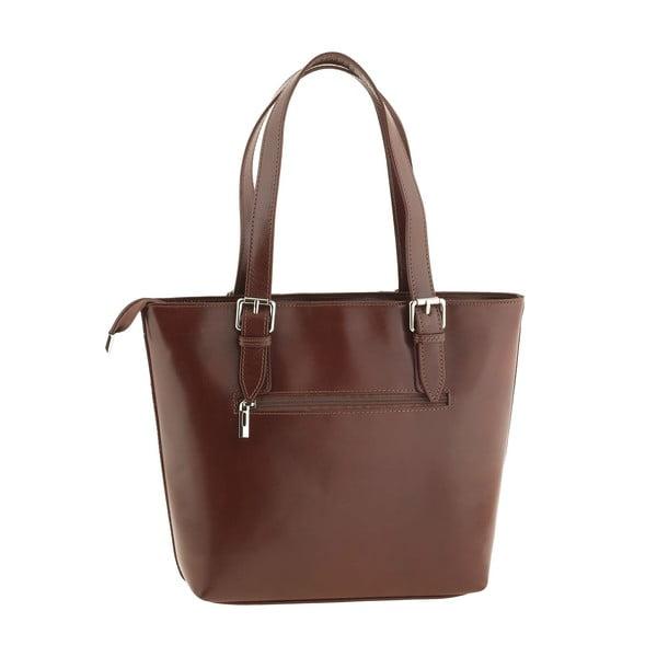Kožená kabelka Italian Lady, hnědá