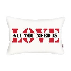 Față de pernă Apolena Love Addict, 31 x 50 cm, alb