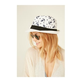 Pălărie din paie pentru femei Alexander McKensey Lochness, alb de la Alexander McKensey