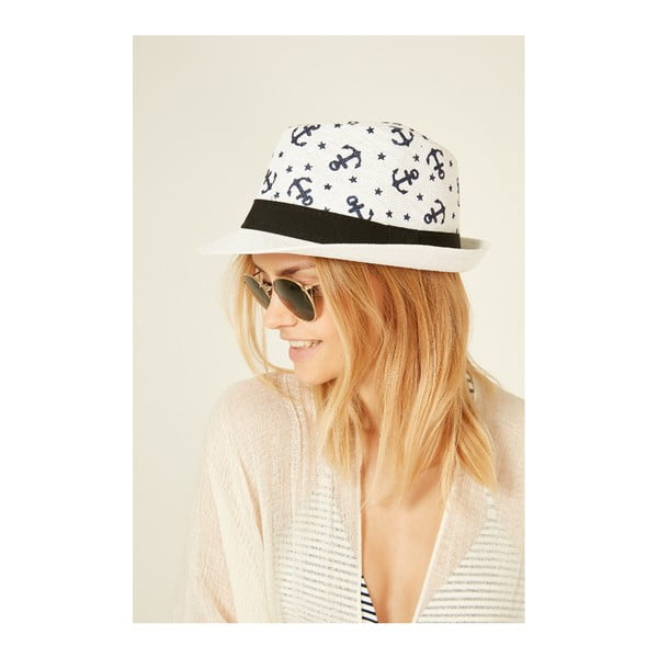 Pălărie din paie pentru femei Alexander McKensey Lochness, alb