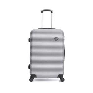 Cestovní kufr na kolečkách ve stříbrné barvě BlueStar Porto, 39l