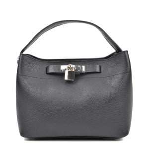 Černá kožená kabelka Isabella Rhea Lock Nero