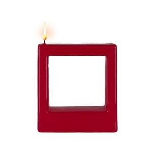 Červená svíčka Alusi Quadra Tre, 4hodiny hoření