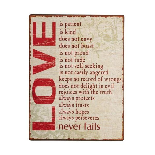 Cedule Love, 35x26 cm