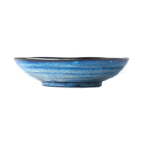 Niebieski głęboki talerz ceramiczny MIJ Indigo, ø 21 cm