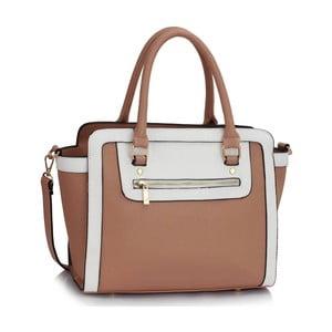 Bílokrémová kabelka L&S Bags Trianon