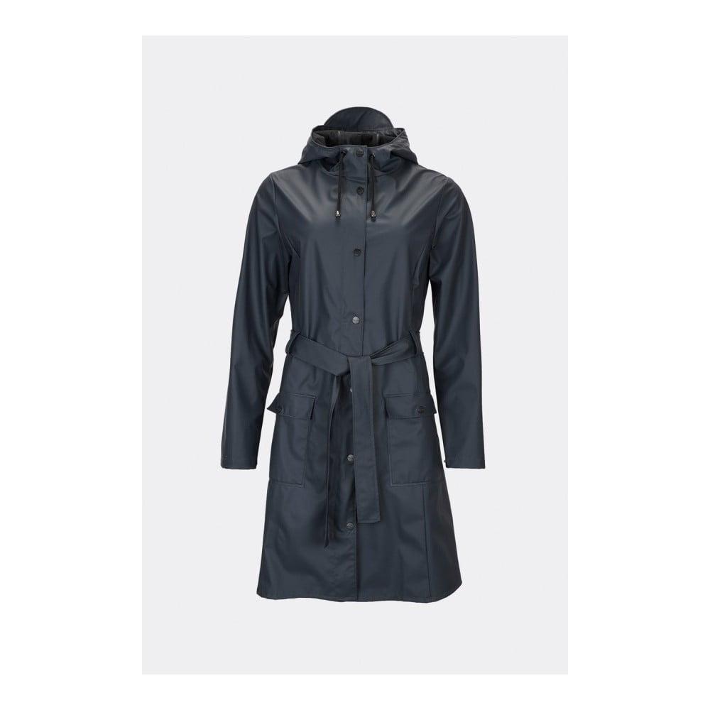 Tmavě modrý dámský plášť s vysokou voděodolností Rains Curve Jacket, velikost XS / S