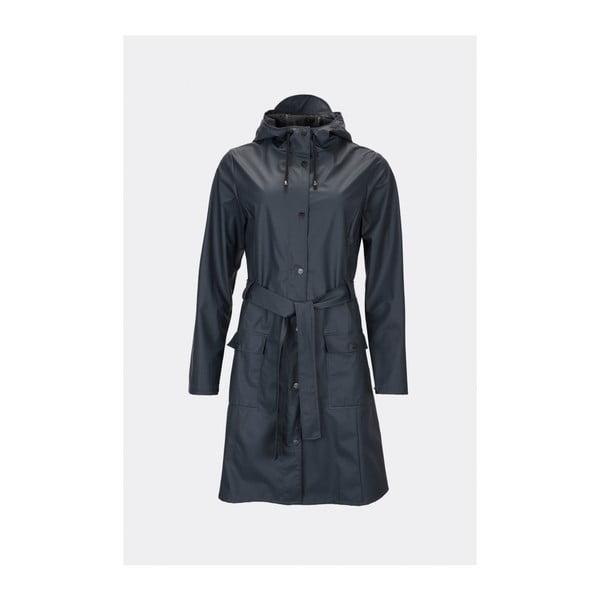Tmavě modrý dámský plášť s vysokou voděodolností Rains Curve Jacket, velikost XS/S