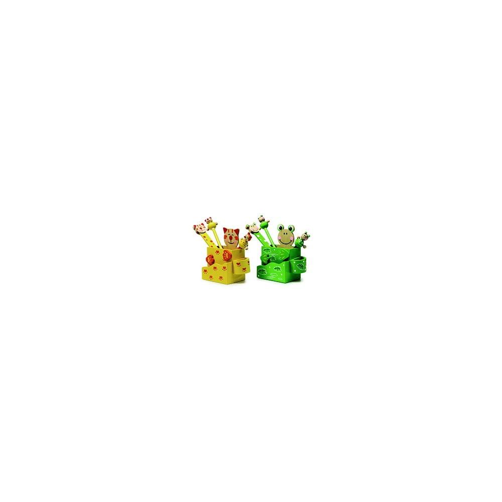 Sada 2 stojanů na psací potřeby Legler Cat & Frog
