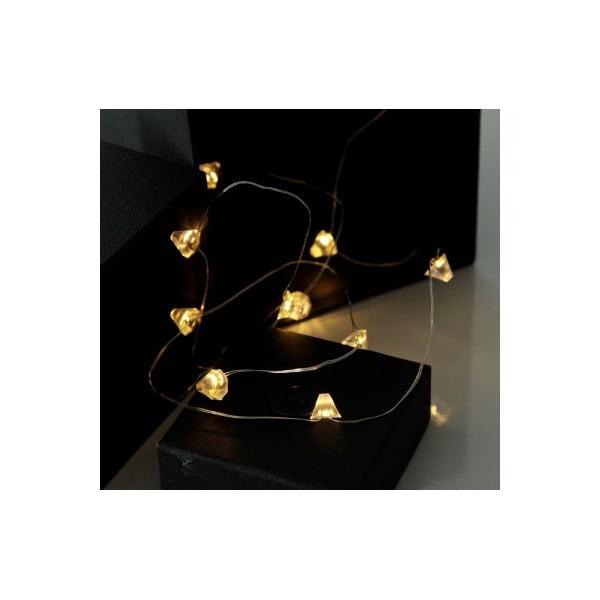 Světelný LED řetěz Best Season String Diamond, 12 světýlek