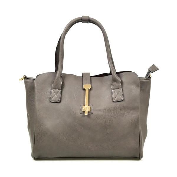Kožená kabelka Alessia, šedá