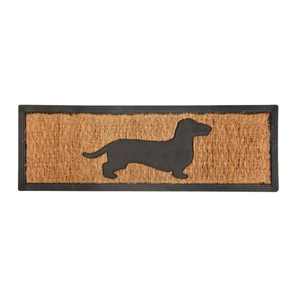 Wycieraczka z włókna kokosowego Esschert Design Pies, 25x75 cm