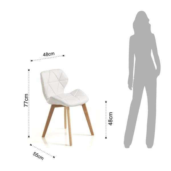 Sada 2 bílých jídelních židlí Tomasucci New Kemi Anna