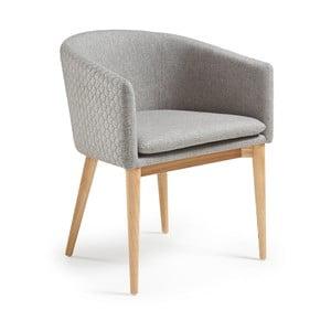 Šedá židle La Forma Harmon