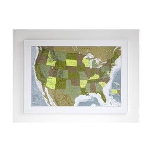 Magnetická mapa USA The Future Mapping Company USA, 100x70cm