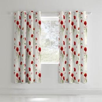 Set 2 draperii Catherine Lansfield Wild Poppies, 168x183cm imagine
