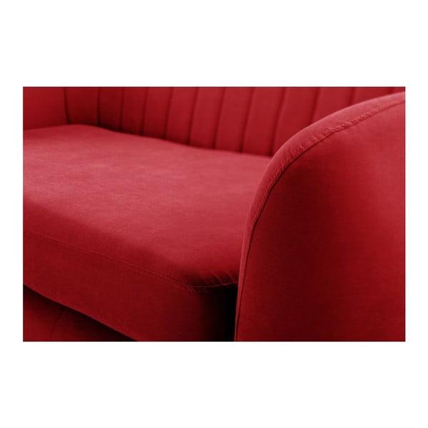 Canapea cu șezlong pe partea dreaptă Stella Grand, roșu