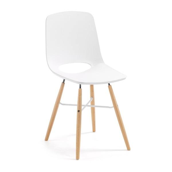 Biela jedálenská stolička La Forma Kint