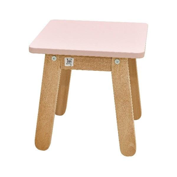 Svetloružová detská stolička BELLAMY Woody