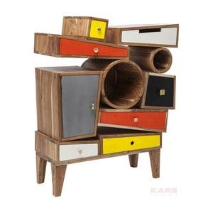 Komoda z akáciového dřeva se 7 zásuvkami Kare Design Criss Cross