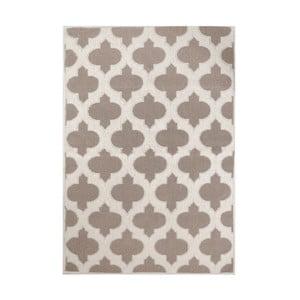Krémový koberec s příměsí bavlny Medallion Coffee, 80 x 150 cm