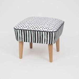 Taburet s dřevěnými nohami Damo Sebastien, 45x45cm