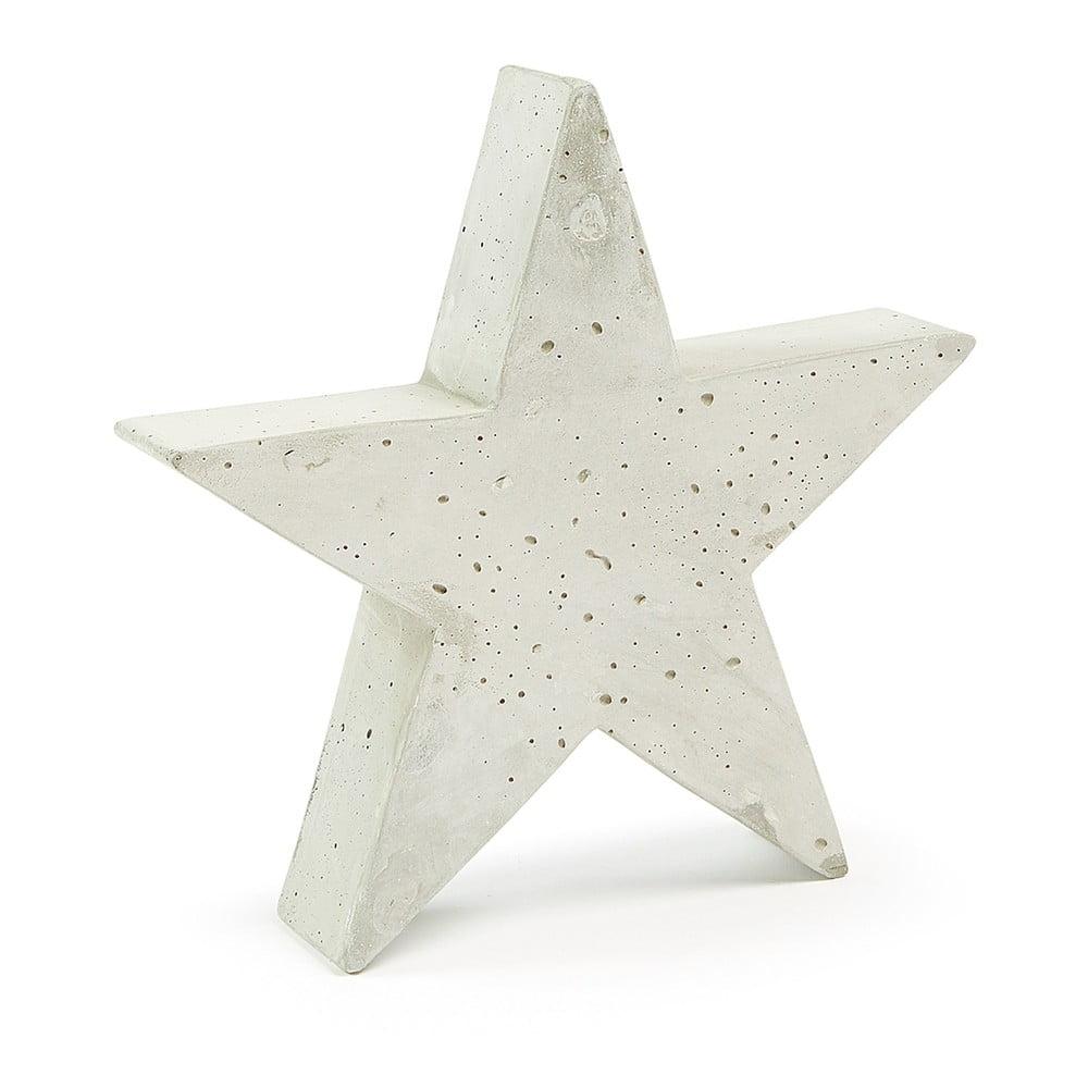 Bílá cementová dekorace La Forma Sens Star, 31 x 30 cm