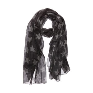 Šátek Jumbo Star Grey, 200x100 cm