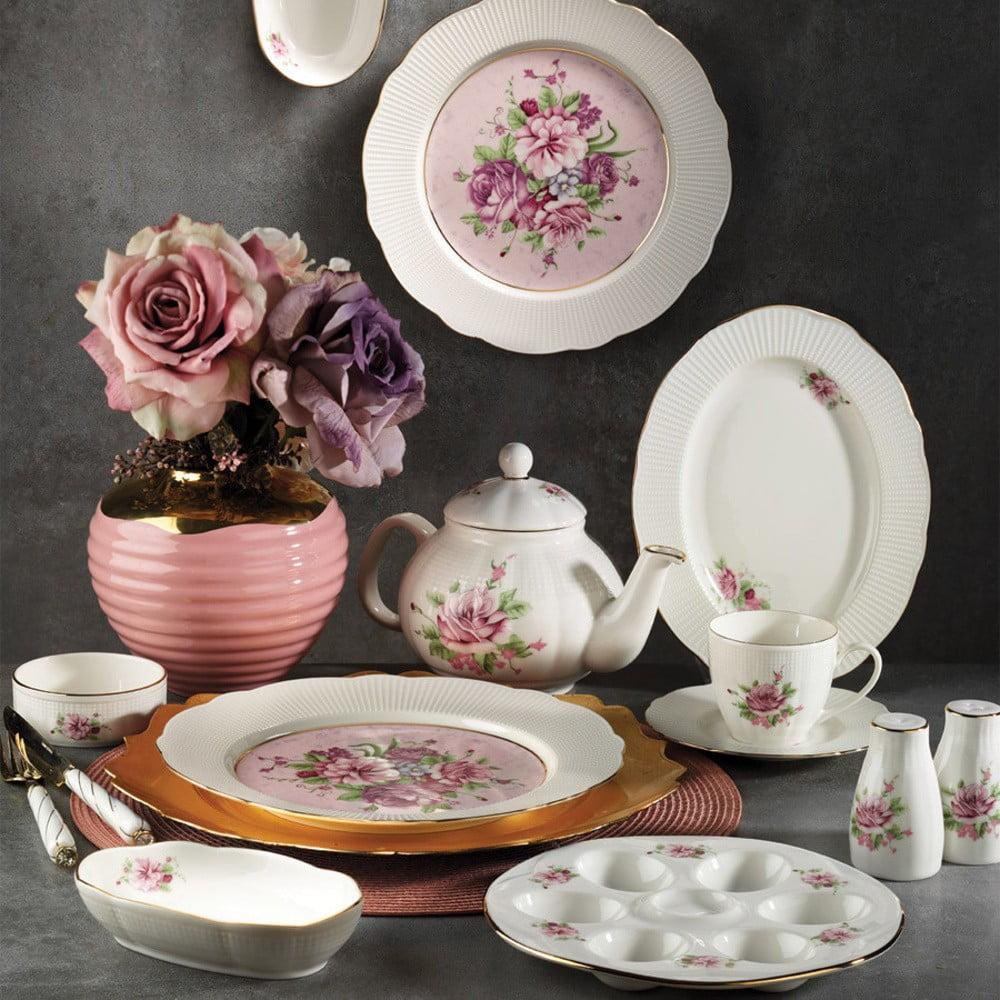 28dílná sada nádobí z porcelánu Kutahya Nina