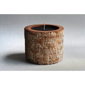 Palmová svíčka Legno Dark s vůní vodního květu, 80 hodin hoření