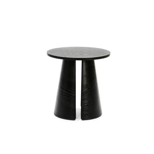 Măsuță auxiliară rotundă Teulat Cep, ø 50 cm, negru