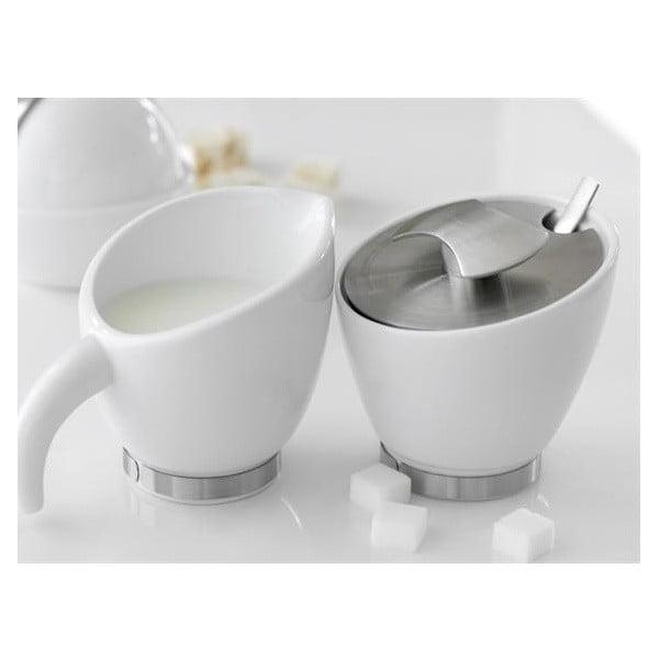 Sada nádoby na mlieko a cukorničky Steel Function Milano