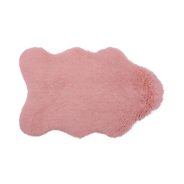 Kožešinkový koberec Bear, růžový