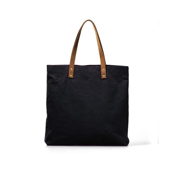 Modro-hnědá kožená vintage maxi taška O My Bag Lou's