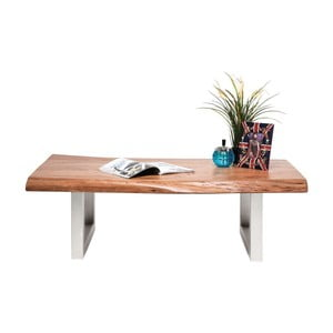 Odkládací stolek z akáciového dřeva Kare Design Line, 135x70cm