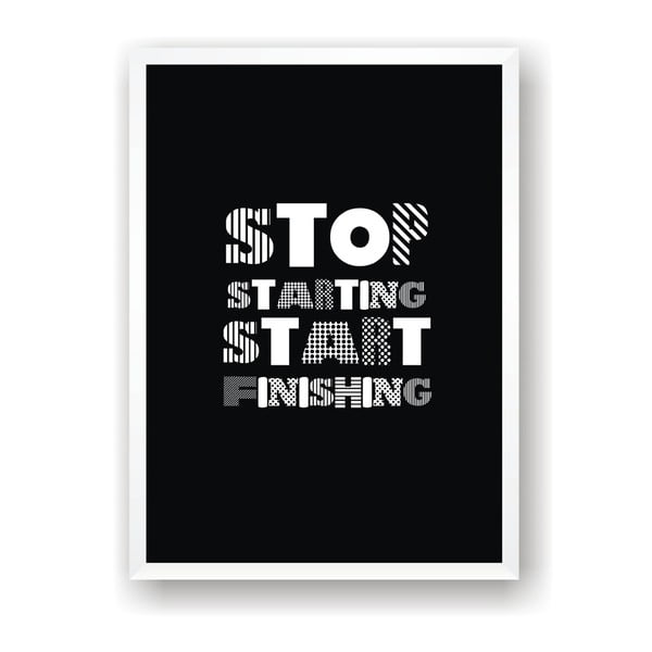 Plakát Nord & Co Stop Starting Start Doing, 30 x 40 cm