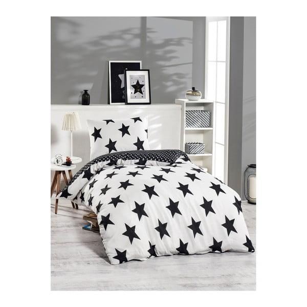 Lenjerie din amestec de bumbac pentru pat de o persoană Bigstar Black, 140 x 220 cm