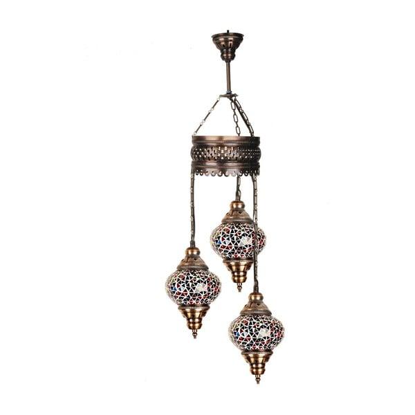 Skleněná závěsná lampa Three XII, 13 cm