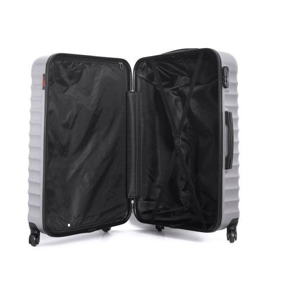 Cestovní kufr ve stříbrné barvě na kolečkách Hero Meropi, 97 l
