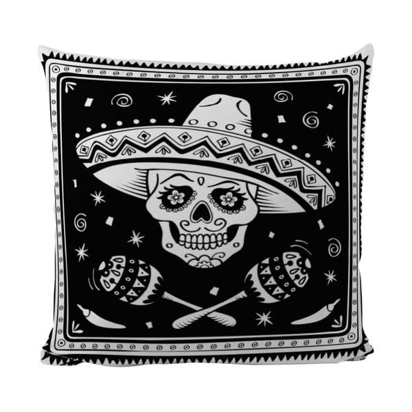Polštářek Black Shake Sugar Skull, 50x50 cm