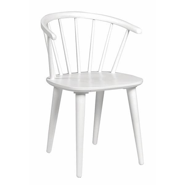 Bílá jídelní židle ze dřeva kaučukovníku Rowico Carmen