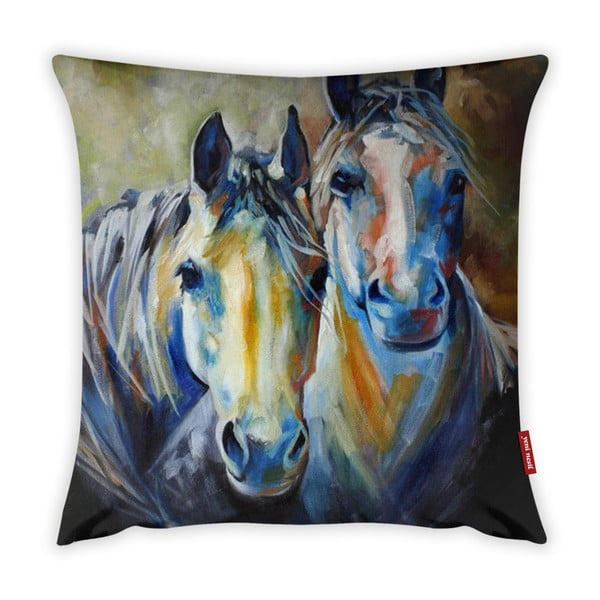 Față de pernă Vitaus Horses Art, 43 x 43 cm