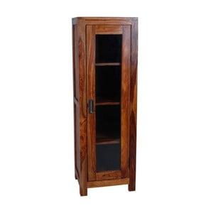 Vitrină cu ușă de sticlă din lemn de palisandru Massive Home Heri