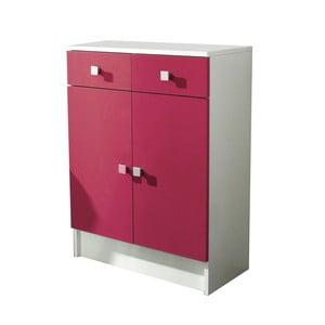 Růžová koupelnová skříňka 13CasaClick