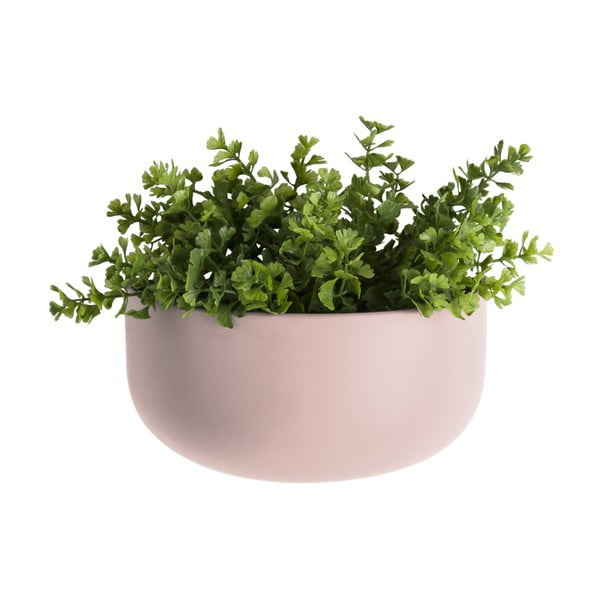 Jasnoróżowa ceramiczna doniczka wisząca PT LIVING Nest