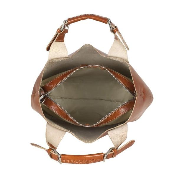 Kožená kabelka Everyday Italia, medová