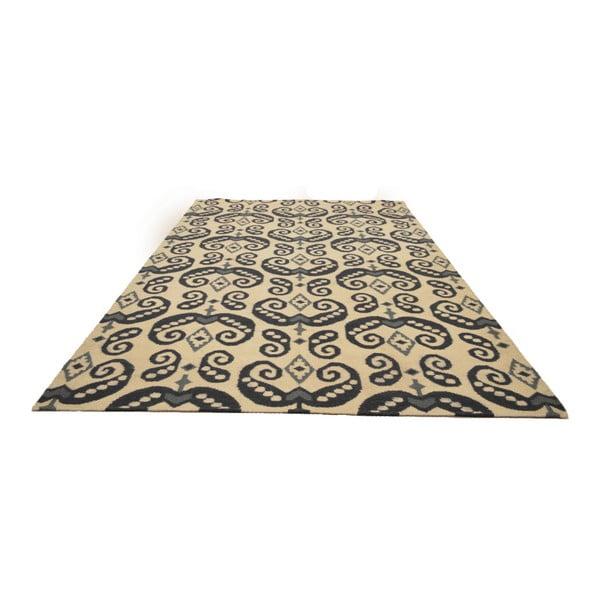 Ručně tkaný koberec Black and White Orient, 150x245 cm