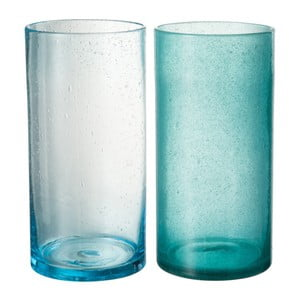 Set 2 vaze J-Line Azure, 12 x 25 cm